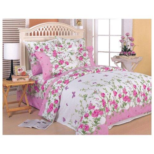 цена Постельное белье 1.5-спальное СайлиД A-63(2), поплин розовый онлайн в 2017 году