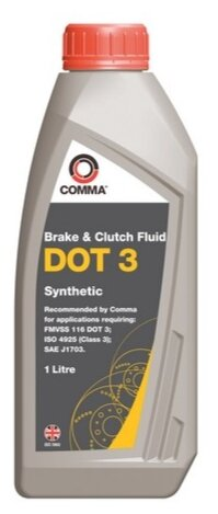 Тормозная жидкость Comma DOT3 (BF1L) 1 л
