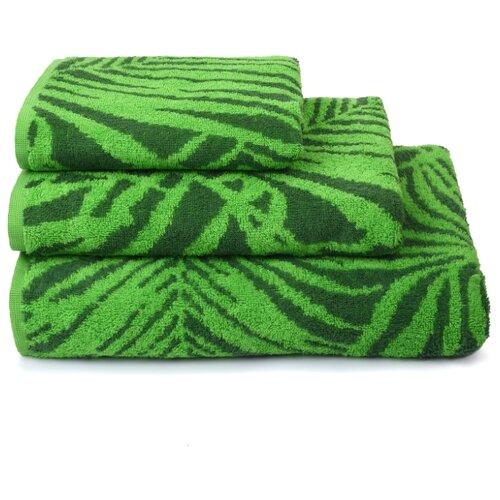 Полотенце махровое ДМ Люкс Tropical color100х150см. цвет:зелёный
