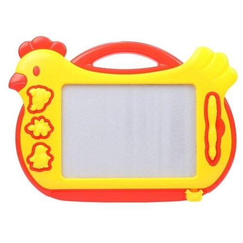 Доска для рисования детская Наша игрушка Курочка (P1847) желтый/красный фото