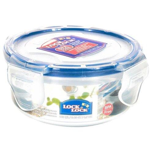 Lock & Lock Контейнер круглый пищевой Classic HPL934 прозрачный/синий