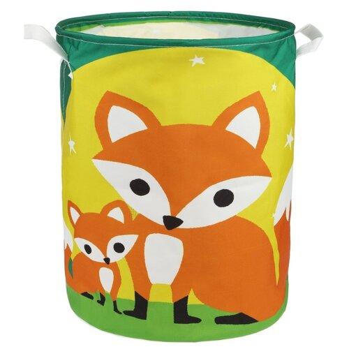 Купить Корзина Наша игрушка Лисицы 35х45 см (HXH2019040903-25b) зеленый/желтый/оранжевый, Хранение игрушек
