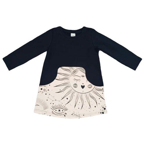 Платье ЁМАЁ размер 128, черный/набивка