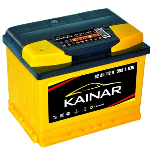цена на Автомобильный аккумулятор Kainar 6СТ-62 VL АПЗ п.п.