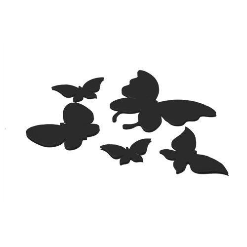 Комплект наклеек на выключатель DS Studio Черные бабочки, объемные