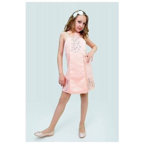 Платье Ladetto размер 32, абрикосовый комплект платье болеро ladetto комплект платье болеро
