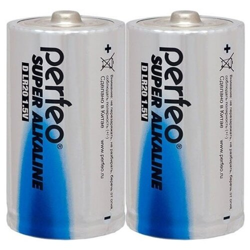 Фото - Батарейка D щелочная Perfeo LR20/2SH Super Alkaline 2 шт батарейка d щелочная perfeo lr20 2bl super alkaline 2 шт