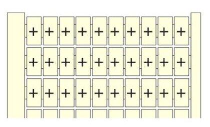 Маркировка для клеммной колодки/ клеммного блока ABB 1SNA231113R1000