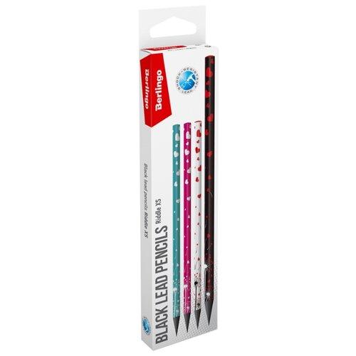 Купить Berlingo Набор чернографитных карандашей 4 дизайна Riddle XS 12 шт. (BP01135_12R), Карандаши