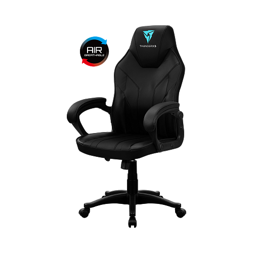 цена на Компьютерное кресло ThunderX3 Кресло компьютерное ThunderX3 EC1 Black AIR игровое, обивка: искусственная кожа, цвет: black