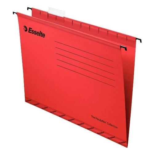 Купить Esselte Папка подвесная Pendaflex plus foolscap А4+, картон, 25 шт красный, Файлы и папки