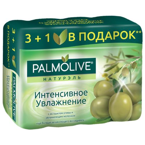 Мыло кусковое Palmolive Натурэль Интенсивное увлажнение с экстрактом оливы и увлажняющим молочком, 4 шт., 90 г фото