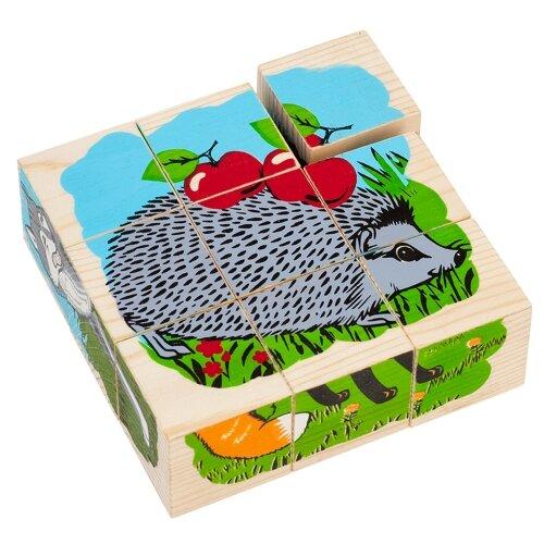 Кубики-пазлы Томик Животные леса 4444-4 кубики пазлы томик транспорт