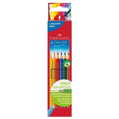 Faber-Castell Цветные карандаши Grip 2001 6 цветов (112406) faber castell ластик grip 2001 цвет синий
