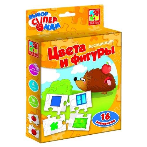 Настольная игра Vladi Toys Ассоциации Цвета и фигуры VT1901-38 vladi toys игра фрукты овощи vladi toys