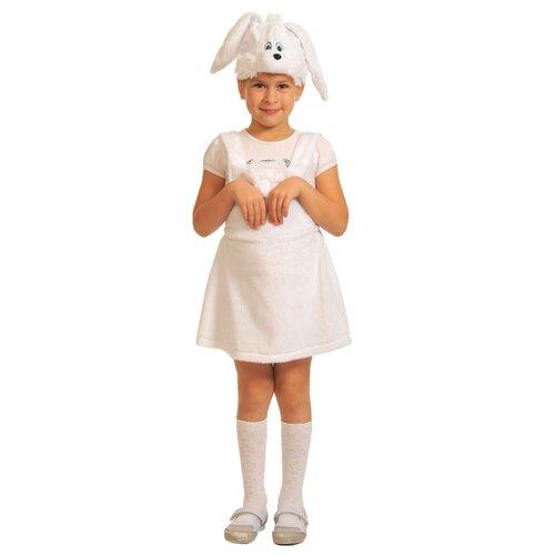 Купить Костюм КарнавалOFF Заинька белая плюш (3006), белый, размер 92-122, Карнавальные костюмы