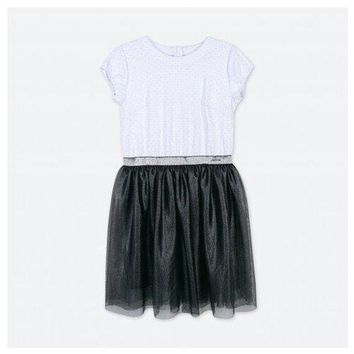 Платье COCCODRILLO размер 104, белый/черный
