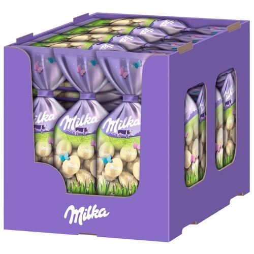 Фигурный шоколад Milka Mini Eggs белый в форме яица (35 шт.) фигурный шоколад milka mini eggs молочный в форме яйца в сахарной глазури 24 шт