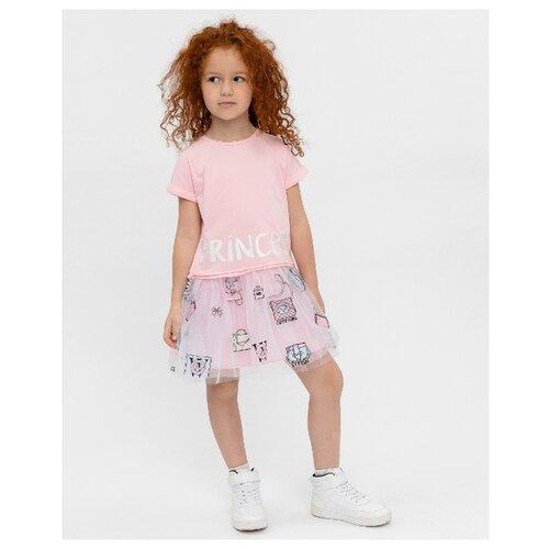 Купить Платье Gulliver размер 110, розовый, Платья и сарафаны