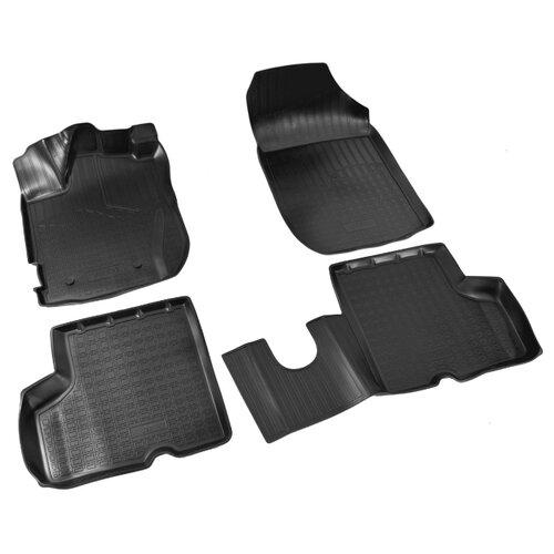 Комплект ковриков NorPlast NPA11-C69-240 4 шт. черный