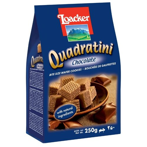 Вафли Loacker Квадратини шоколад 250 г