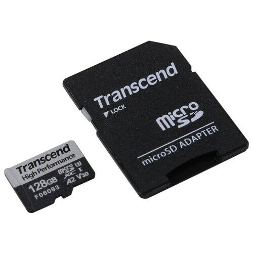 Фото - Карта памяти Transcend 128GB UHS-I U3 A2 microSD microSD w/ adapter карта памяти sdhc 32gb transcend class10 uhs i