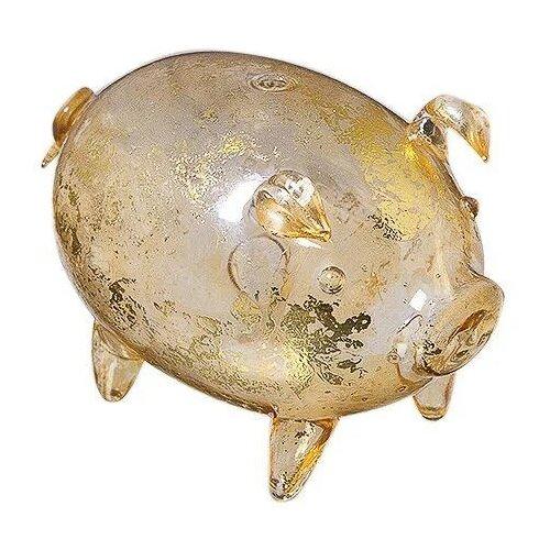 Статуэтка NeoGift Свинка, 7.5 золотистый