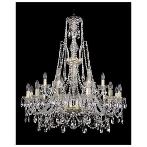 Фото - Люстра Bohemia Ivele Crystal 1411 1411/12+6/300/XL-96/G, E14, 720 Вт люстра bohemia ivele crystal 1411 1411 12 6 300 h 94 g e14 720 вт