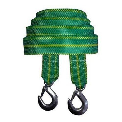 Ленточный буксировочный трос Сигма 9164927 5 м (10 т) зеленый