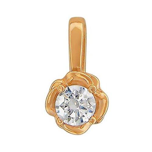 Эстет Подвеска с 1 кристаллом swarovski из красного золота 01П119299 ЭСТЕТ