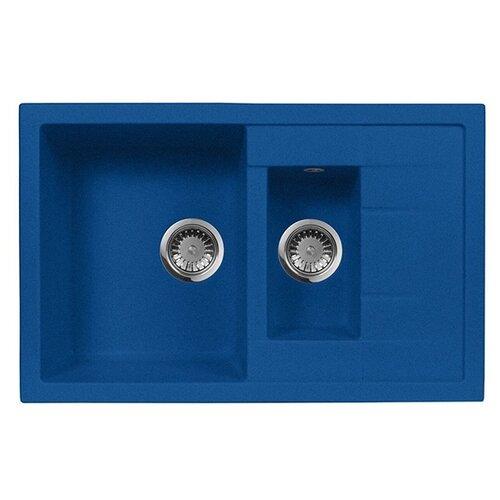 цена на Врезная кухонная мойка 78 см А-Гранит M-21K M-21K(323) синий