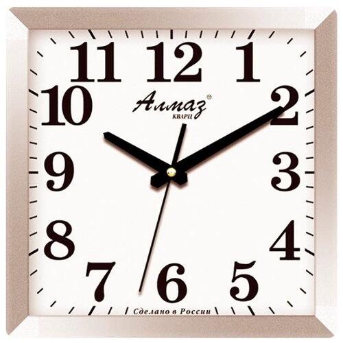 Часы настенные кварцевые Алмаз K19 серый/белый часы настенные кварцевые алмаз e66 серый