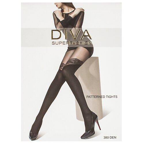 Колготки DIVA SUPERFASHION DK-60 380 den, размер free size, черный колготки diva superfashion secret 128 380 den размер free size черный черный