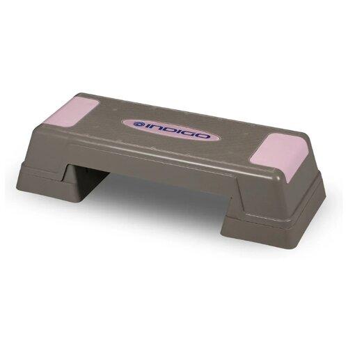 Степ-платформа Indigo IN170 70х28х22 см серый/розовый