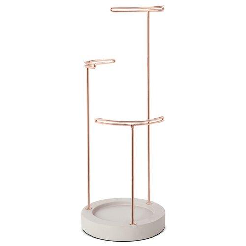 Фото - Подставка для украшений Umbra Tesora, бетон-медь подставка для колец umbra anigram олень медь
