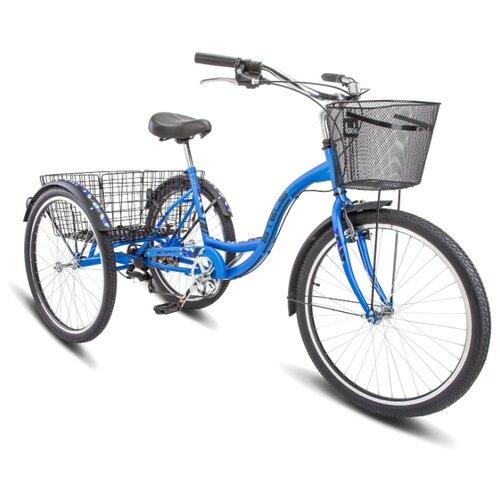 Фото - Городской велосипед STELS Energy VI 26 V010 (2020) синий 17 (требует финальной сборки) горный mtb велосипед stels miss 5000 md 26 v010 2019 бирюзовый 17 требует финальной сборки