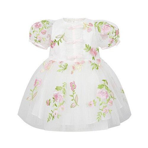 Платье David Charles размер 86, кремовый/розовый