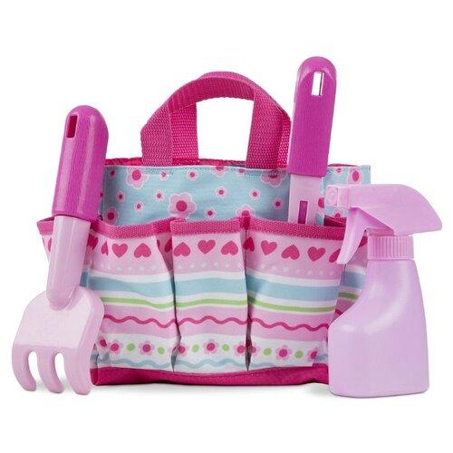 Купить Melissa&Doug Sunny Patch Набор для садоводства в сумочке, розовый, Melissa & Doug, Игровые наборы и фигурки