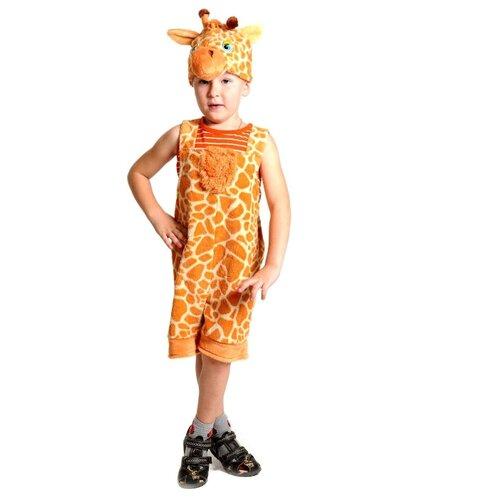 Купить Костюм КарнавалOFF Жирафчик плюш (3019), оранжевый, размер 92-122, Карнавальные костюмы