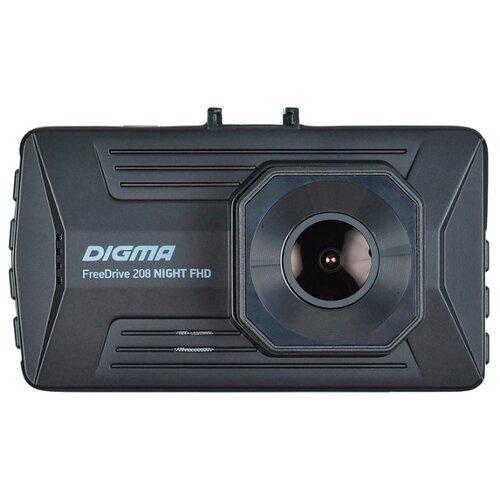 Видеорегистратор DIGMA FreeDrive 208 NIGHT FHD черный видеорегистратор digma freedrive 118 черный