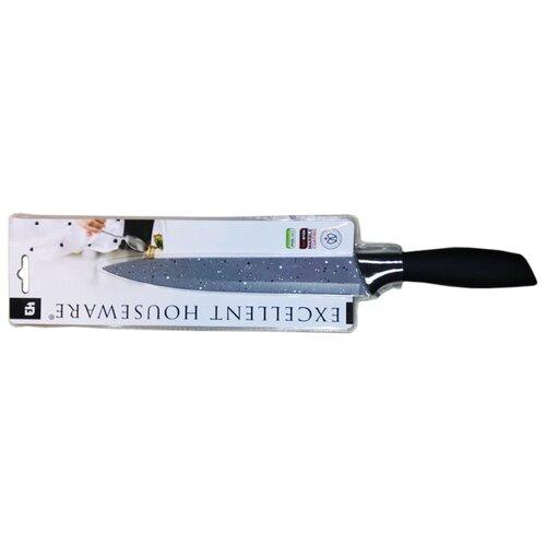 Excellent Houseware Нож разделочный 17013, 20 см серый / черный фото