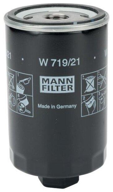 Масляный фильтр MANNFILTER W719/21