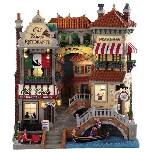 Фигурка LEMAX фасад Маленькая Венеция 28 х 25 х 13 см бежевый/красный по цене 19 380
