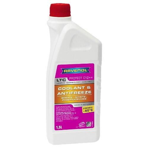 Антифриз Ravenol LTC - Protect C12++ Premix -40°C 1.5 л антифриз ravenol hjc hybrid japanese coolant premix 40°c готовый цвет зеленый 5 л