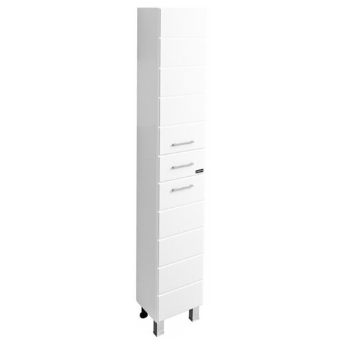Шкаф-пенал для ванной СанТа Омега 30 507001, (ШхГхВ): 30х30х190 см, белый