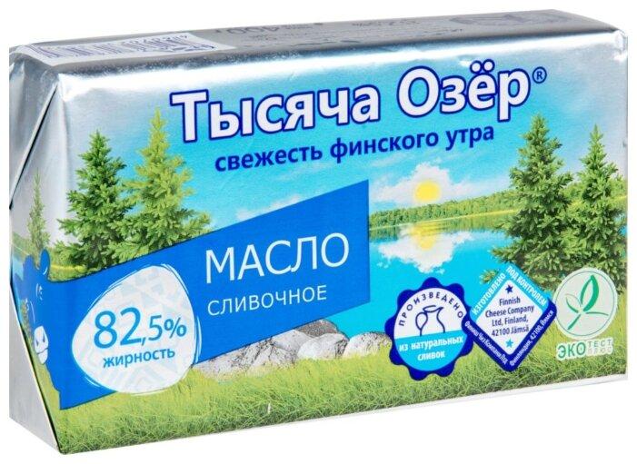 Масло Тысяча Озер сливочное несоленое 82,5% бзмж 400 гр