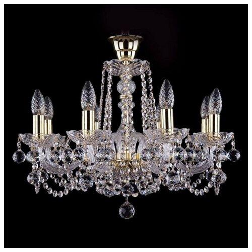 Люстра Bohemia Ivele Crystal 1402/8/195/G/Balls/Tube, E14, 320 Вт люстра bohemia ivele crystal 1402 1402 8 195 g m711 e14 320 вт