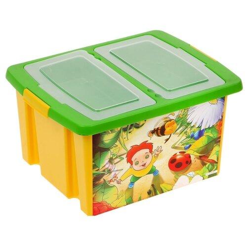 Фото - Контейнер ПОЛИМЕРБЫТ Сюрприз 30 л (48002) желтый контейнер полимербыт профи kids 32х14х38 см 50001 красный зеленый желтый