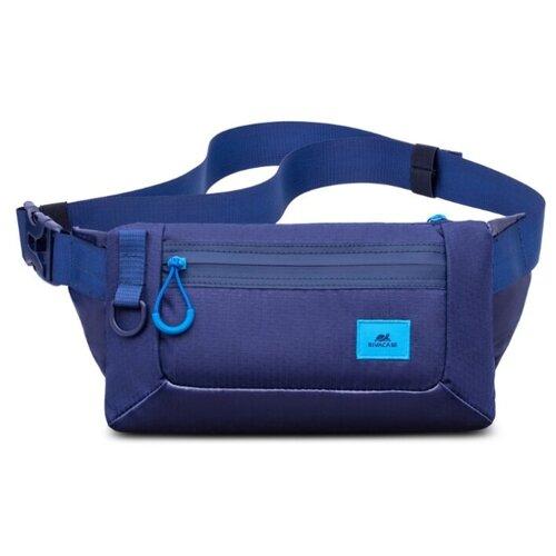 Сумка поясная RIVACASE, текстиль, blue сумка поясная kite время и стекло vis19 2562 текстиль