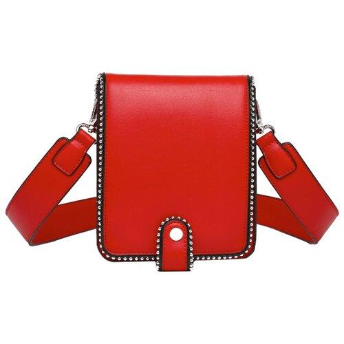 Сумка кросс-боди DDA CR-2058BK/CR-2060WT/CR-2059RD, искусственная кожа сумка седло dda cr 1060dg cr 1057bk cr 1058rd cr 1059bu cr 1061bs искусственная кожа